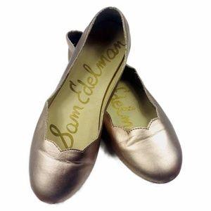 Sam Edelman Rose Gold Scalloped Flats